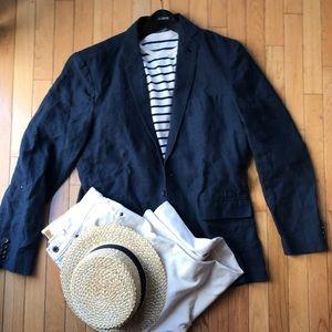 J Crew pure linen blazer medium